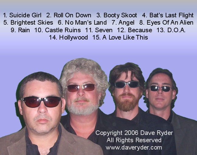 The Dave Ryder Band - Brightest Skies CD Back Cover