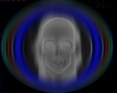 a representation of my skull as a negative image - not actual size