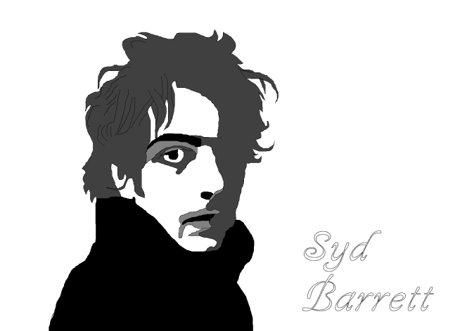 Syd Barrett line drawing